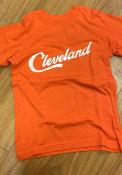 Cleveland Youth Rally RH Script T-Shirt - Orange