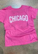 Chicago Girls Rally Arch Wordmark T-Shirt - Pink