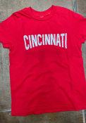 Cincinnati Youth Rally Arch Wordmark T-Shirt - Red