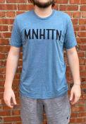 Manhattan Rally MNHTTN Fashion T Shirt - Light Blue