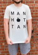 Manhattan Rally Block Apple Fashion T Shirt - Oatmeal