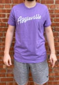 Manhattan Rally RH Script Fashion T Shirt - Purple