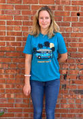 Manhattan Rally Retro Bus Fashion T Shirt - Teal
