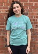 Kansas Rally Landscape State Fashion T Shirt - Teal