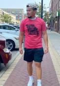 Missouri Rally COMO State Shape Fashion T Shirt - Red