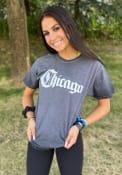Chicago Rally Medieval Wordmark T Shirt - Black