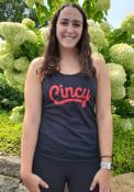 Cincinnati Womens Rally Flowy Wordmark Tank Top - Black