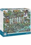 Detroit Map 1000 Piece Puzzle