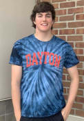 Dayton Flyers Rally Spiral Tie Dye Fashion T Shirt - Navy Blue