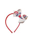Texas Rangers Pink Jr Bow Headband
