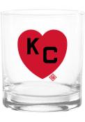 Kansas City Monarchs 14 oz KC Heart Rock Glass