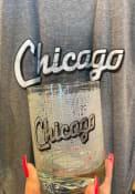 Chicago Wordmark Script Map 14 oz Rock Glass
