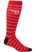 Dayton Flyers Mens Red Stripe Dress Socks
