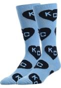 Kansas City Allover Dress Socks - Light Blue
