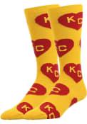 Kansas City Allover Dress Socks - Yellow
