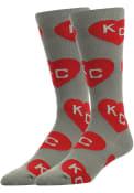 Kansas City Allover Dress Socks - Grey