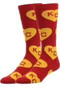 Kansas City Allover Dress Socks - Red