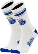 Drake Bulldogs Throwback Crew Socks - Blue