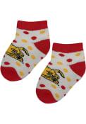 Ferris State Bulldogs Baby Polka Dot Quarter Socks - Red