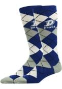 Drake Bulldogs Argyle Argyle Socks - Blue