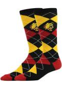 Ferris State Bulldogs Argyle Argyle Socks - Red