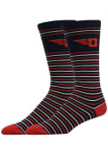 Dayton Flyers Stripe Dress Socks - Red