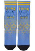 Cincinnati Strideline Fiona the Hippo Dress Socks - Light Blue