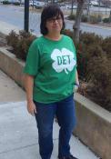 Rally Detroit Green Shamrock Initials Short Sleeve T Shirt