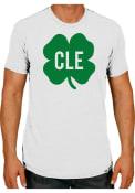 Rally Cleveland White Shamrock Initials Short Sleeve T Shirt
