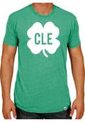 Rally Cleveland Green Shamrock Initials Short Sleeve T Shirt