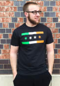 Rally Chicago Dark Grey Irish City Flag Short Sleeve T Shirt