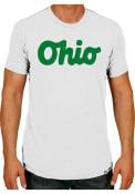 Rally Ohio White Script Short Sleeve T Shirt