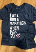 Cincinnati Heather Navy Run A Marathon Short Sleeve T Shirt