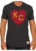 Kansas City Monarchs Original Retro Brand Heart Fashion T Shirt - Black