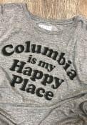 Rally Missouri Grey Columbia Is My Happy Place Short Sleeve T Shirt