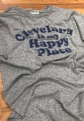 Rally Cleveland Grey Happy Place Short Sleeve T Shirt