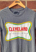 Rally Cleveland Grey The Champagne Of Ohio Short Sleeve T Shirt
