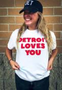Rally Detroit White Loves You Short Sleeve T Shirt
