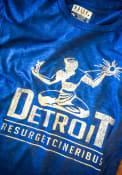 Rally Detroit Blue Spirit of Detroit Short Sleeve T Shirt