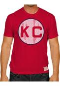 Original Retro Brand Kansas City Monarchs Red Monarch Circle Fashion Tee