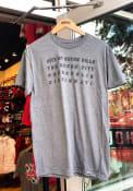Rally Cincinnati Grey Four City Nicknames Short Sleeve T Shirt