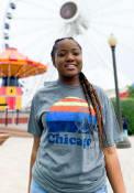Rally Chicago Grey Sunset Navy Pier Short Sleeve T Shirt