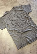 Rally Chicago Grey Chicago Pizza Skyline Sketch Short Sleeve T Shirt