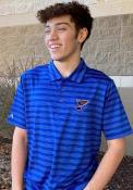 Antigua St Louis Blues Blue Charge Short Sleeve Polo Shirt
