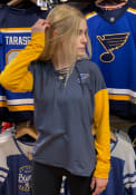 St Louis Blues Womens Antigua Amaze Hooded Sweatshirt - Navy Blue