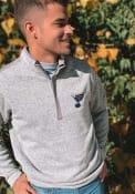 Antigua St Louis Blues Grey Clover 1/4 Zip Pullover