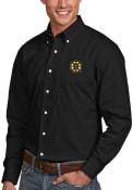 Boston Bruins Antigua Dynasty Dress Shirt - Black