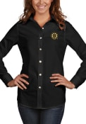 Boston Bruins Womens Antigua Dynasty Dress Shirt - Black
