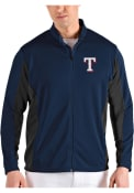 Texas Rangers Antigua Passage Medium Weight Jacket - Navy Blue