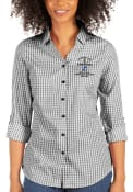 Tampa Bay Lightning Womens Antigua 2021 Stanley Cup Champions Structure Dress Shirt - Black